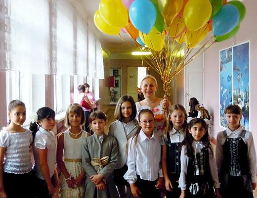 выпускной - первая учительница
