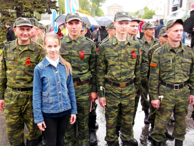 9 мая в Донецке - я и ополченцы