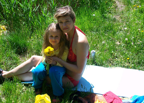 я с мамой на Кальмиусе