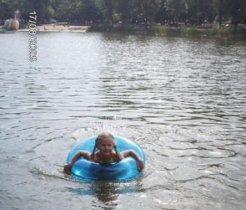 я купаюсь в озере