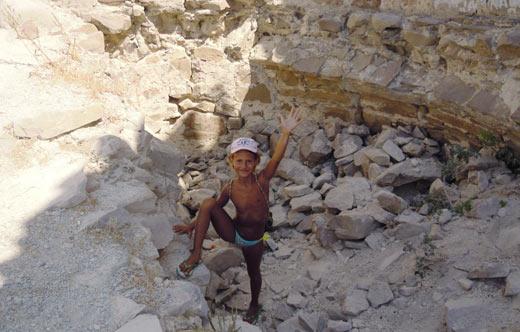 я в развалинах башни Чабан-Кале