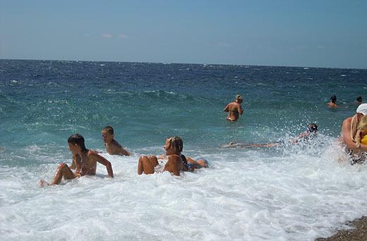 Кацивели - пляж и море