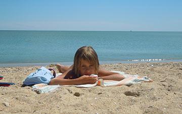 пляж и штиль - море просто супер!