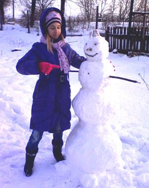 я и мой снеговик
