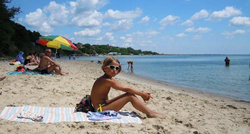 фото - я на  пляже в Юрьевке